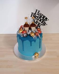 Henessey Bottle Drip Cake