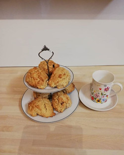 Coconut rock cakes with dried fruits  Ho