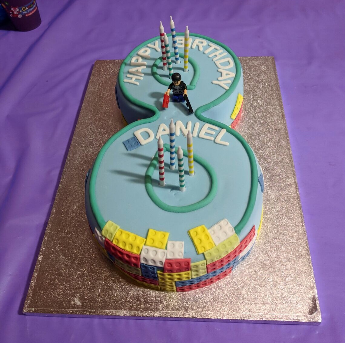 Number 8 birthday cake