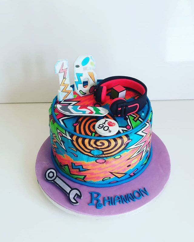 90's fresh prince of bel-air theme cake_