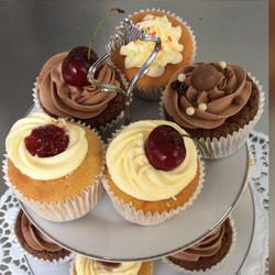 Vanilla Cupcakes with Cherry