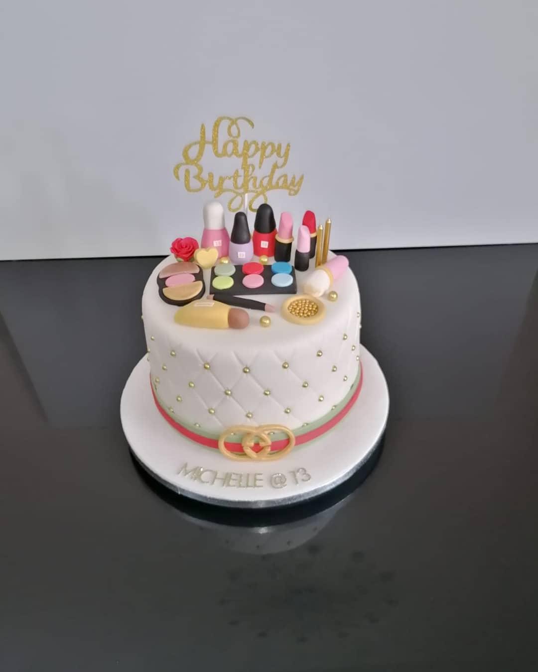 Gucci Makeup Cake