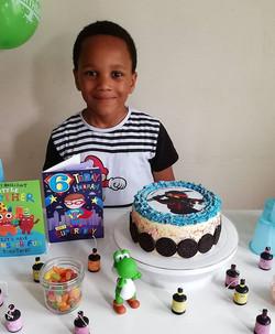 Happy birthday boy with his Ninjago KAI