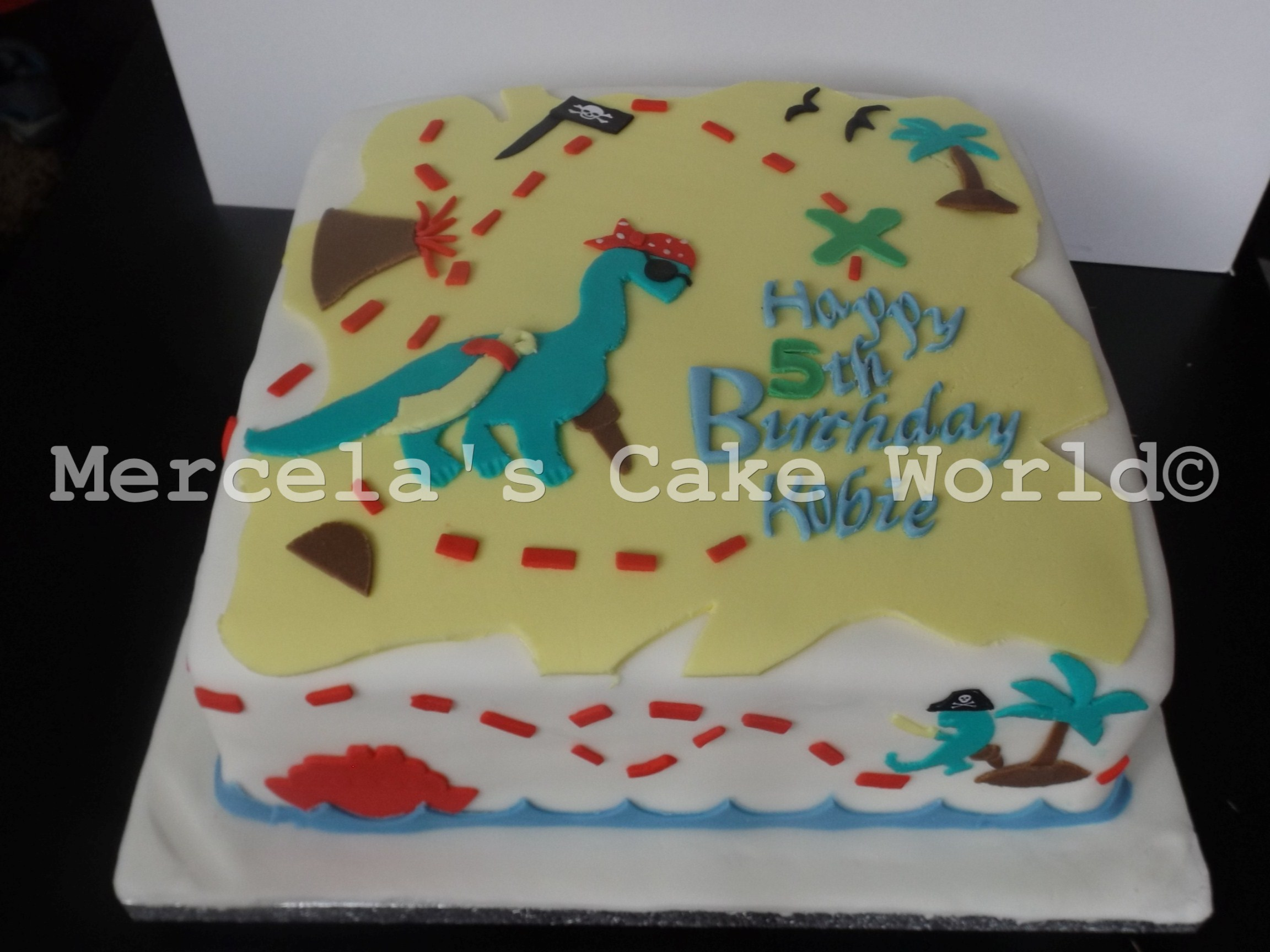 pirate dinosaur cake