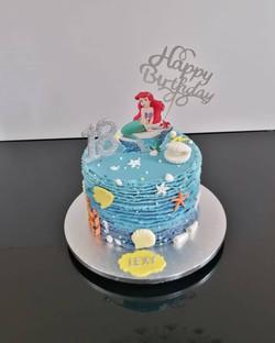 Ariel Under the Sea cake