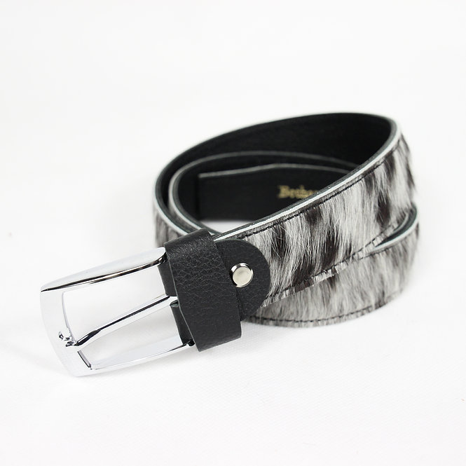 The Blandford Cowhide Belt - Speckled Grey