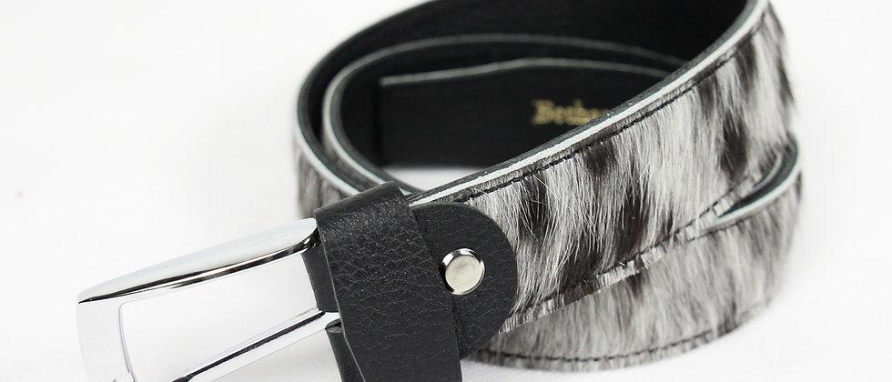 The Blandford Cowhide Belt - Speckled Grey