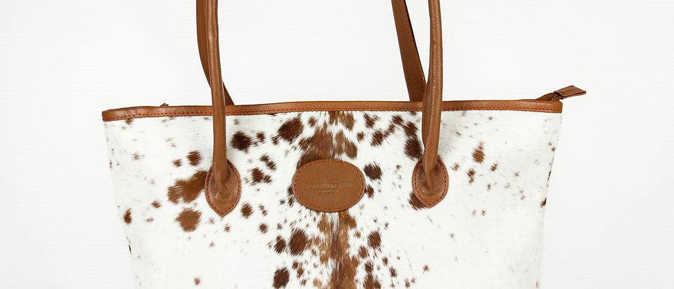 The Upton Cowhide Handbag - Caramel
