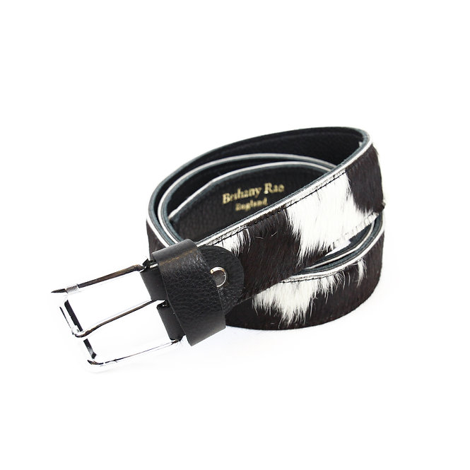 The Blandford Cowhide Belt - Black