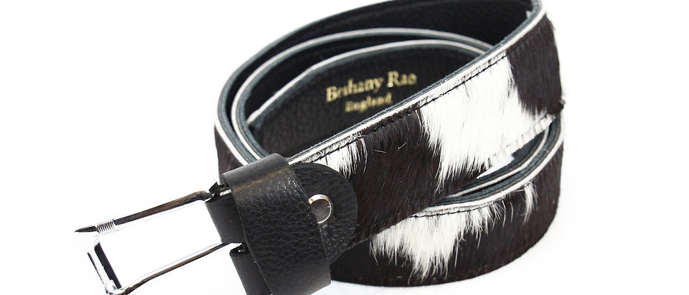 The Blandford Cowhide Belt - Black