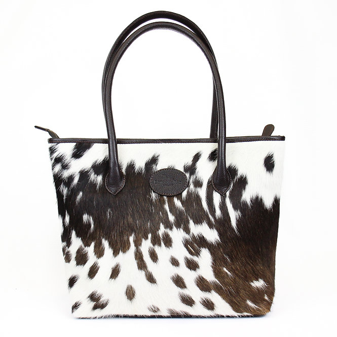 The Upton Cowhide Handbag - Brown