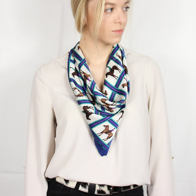 Horse Riding Square Scarf