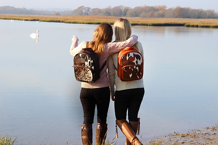 The Abbotsbury Cowhide Leather Rucksack, Leather Backpack with Family Walks