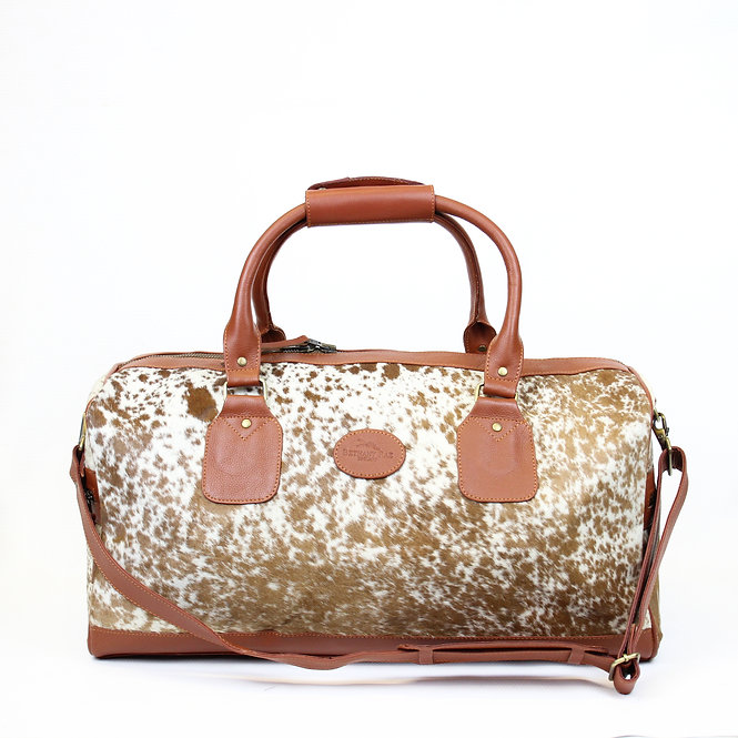 The Dorchester Cowhide Duffel - Caramel