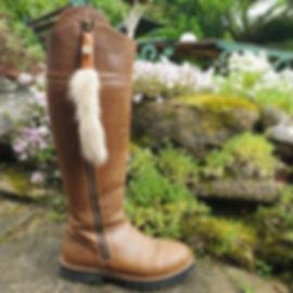 Handmade Vintage Mink Fur Boot Tassels