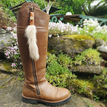 Handmade Vintage Mink Fur Boot Tassels for Fairfax and Favor Boots