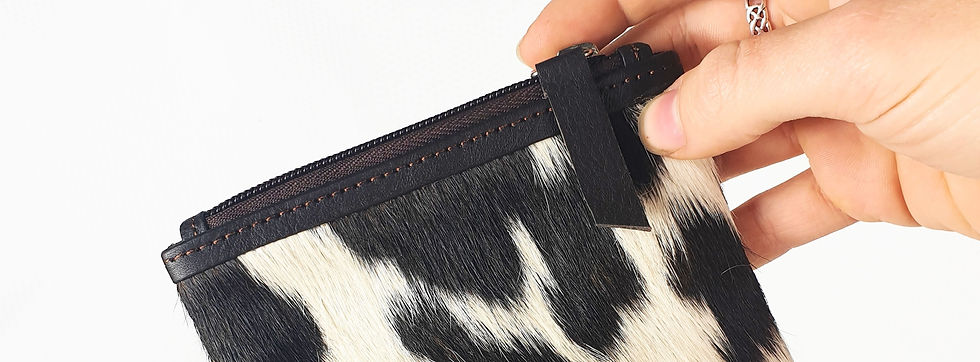 Cowhide Leather Coin Purse