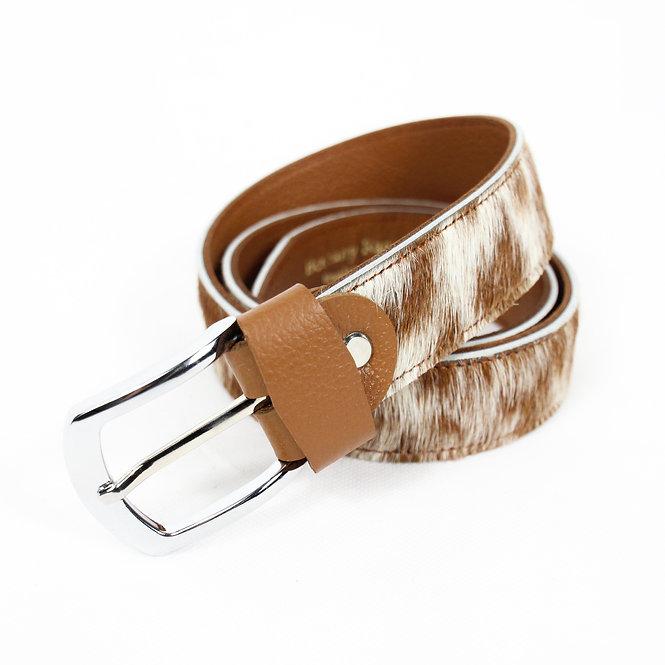 The Blandford Cowhide Belt - Caramel