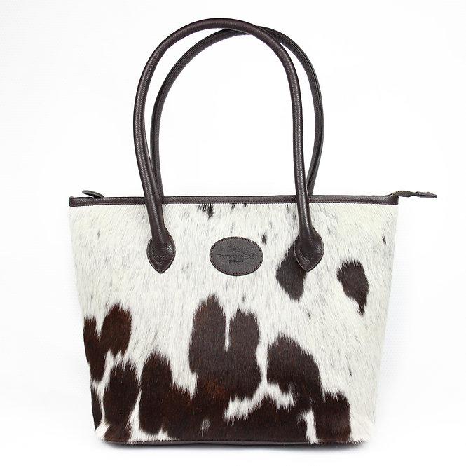 The Upton Cowhide Handbag -Brown