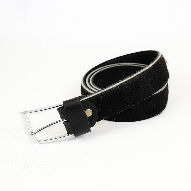 SALE The Blandford Cowhide Belt - Black