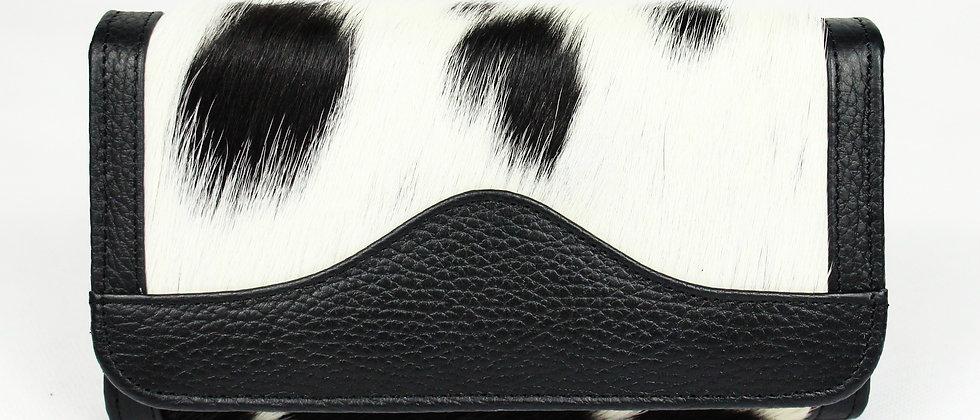 The Lytchett Cowhide Purse - Black