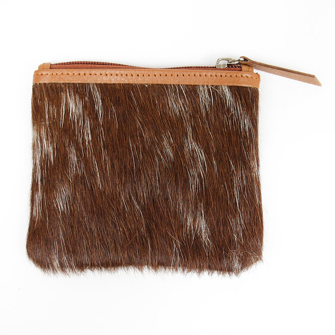 The Charlton Cowhide Coin Purse - Caramel