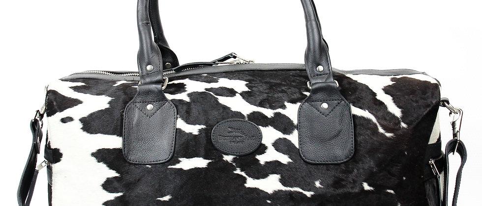 The Dorchester Cowhide Duffel - Black