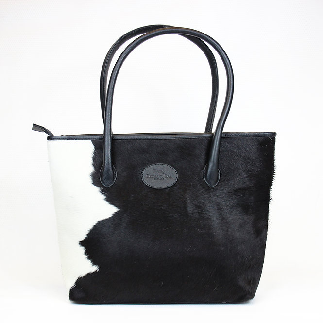 The Upton Cowhide Handbag - Black