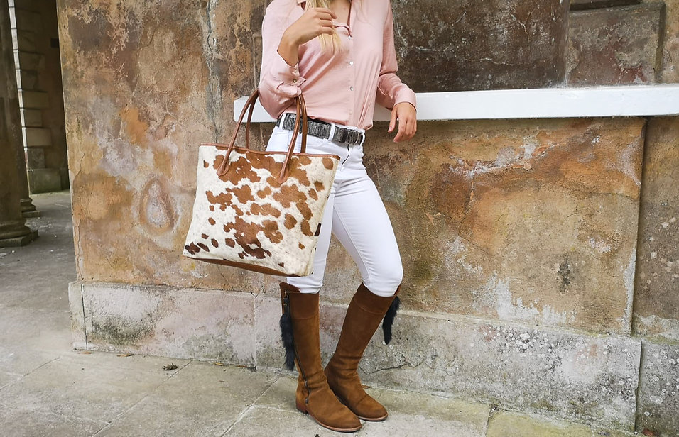 Bethany Rae Cowhide Leather Upton Handbag