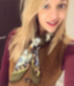 bethany holland in a vintage scarf
