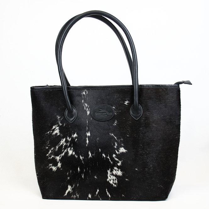 The Upton Cowhide Handbag - Black