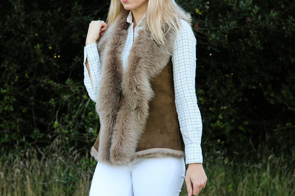 Bethany Rae Ava Toscana Sheepskin Gilet, Waistcoat, Jacket Shearling
