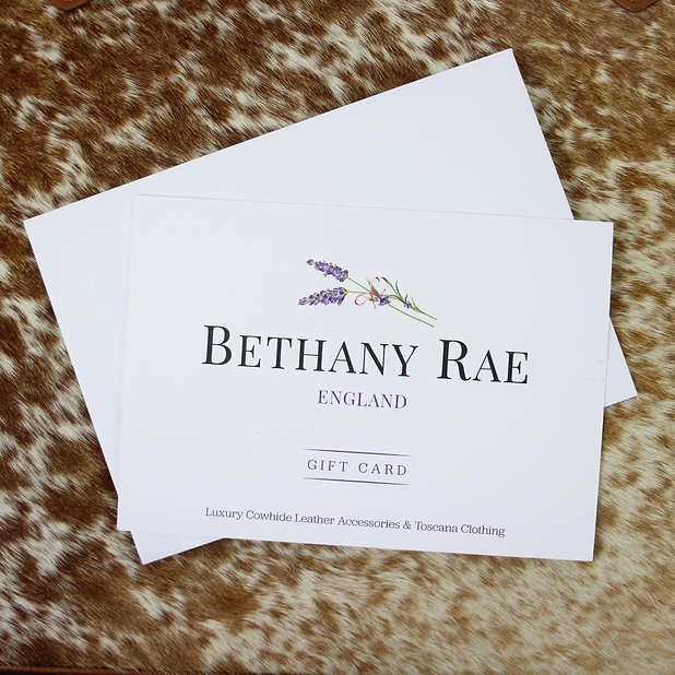 Bethany Rae Cowhide Gift Card, Gift Voucher