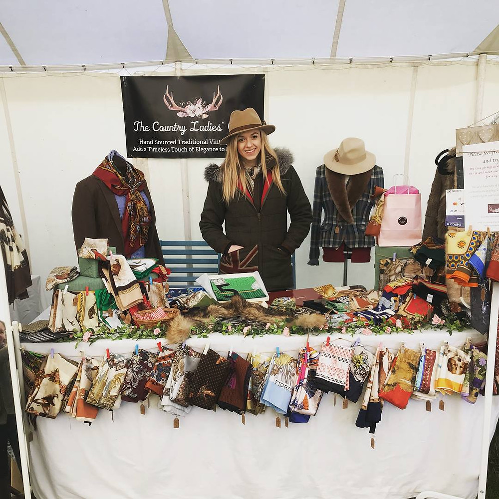 The origins of Bethany Rae under The Country Ladies Closet, a country vintage scarf business at badbury rings point to point, dorset
