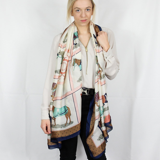 Pure Silk Race Day Scarf Pink