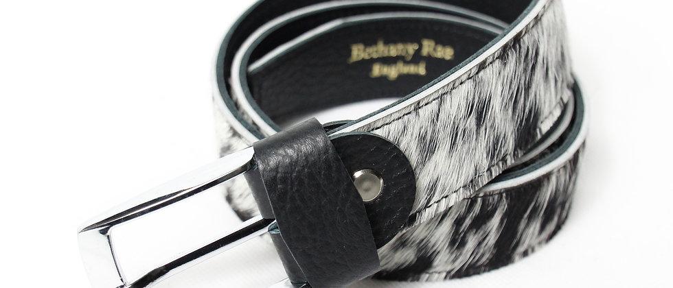 The Blandford Cowhide Belt - Speckled Black