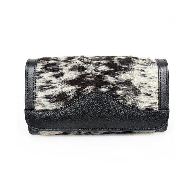 The Lytchett Cowhide Purse - Black