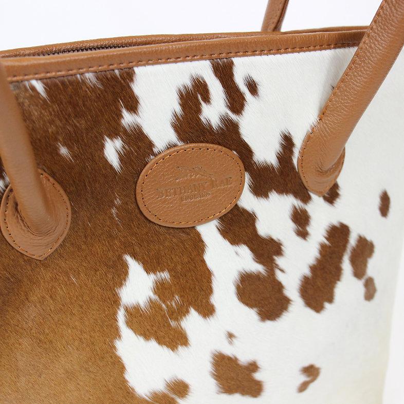 Bethany Rae Cowhide Tote Handbag, Upton