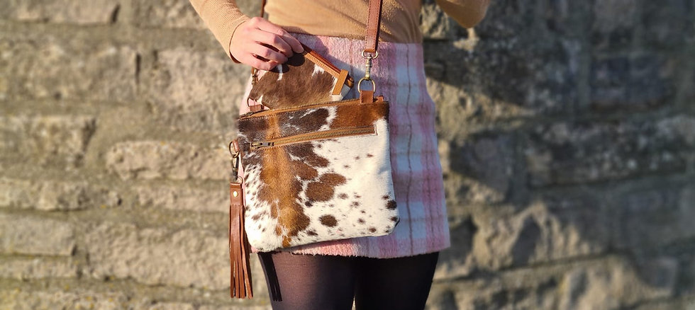 The Tarrant Cowhide Multiway Shoulder and Clutch Bag