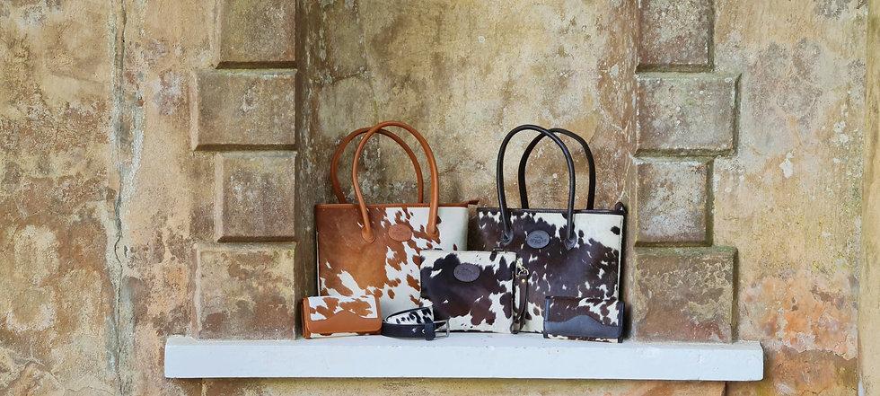 Bethany Rae Cowhide Accessories - Leather Handbag, Purse, Belt