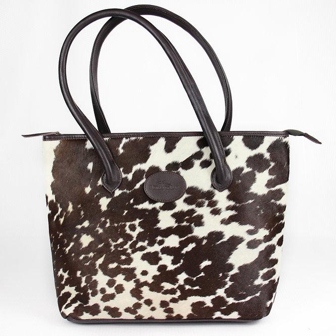 The Upton Cowhide Handbag - Brown
