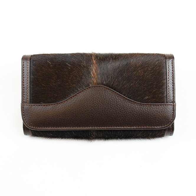 The Lytchett Cowhide Purse - Brown