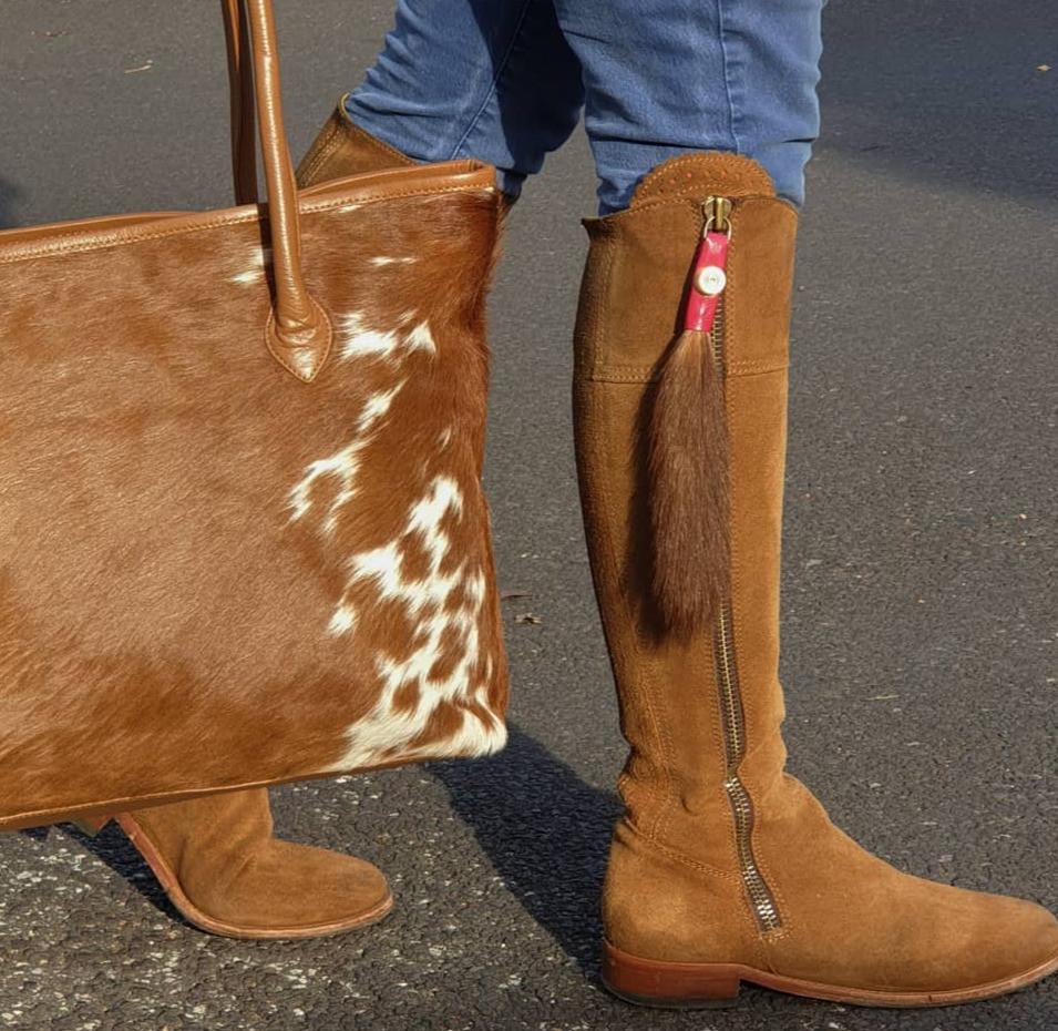 Boot Tassels & Cowhide Bag
