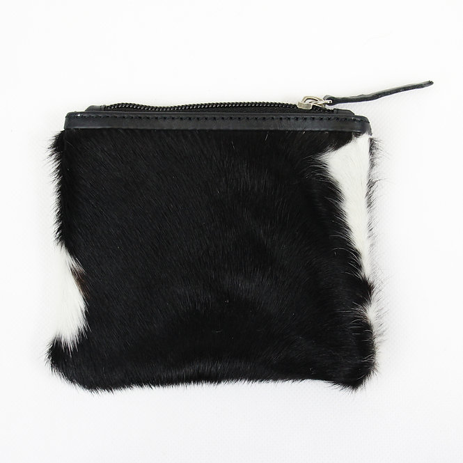 The Charlton Cowhide Coin Purse - Black
