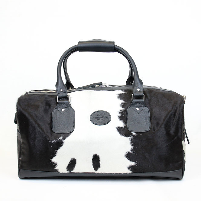 The Dorchester Cowhide Duffel - Black