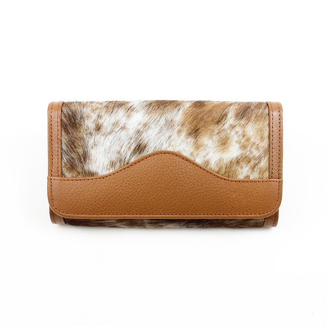 The Lytchett Cowhide Purse - Caramel
