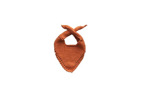 Knitted Baby Bib - Apricot