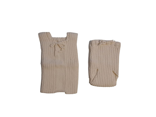 Knitted Cotton Singlet And Bloomers Set