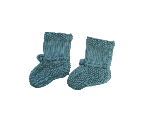Knitted Boots - Duck Egg Blue