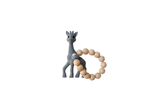 Giraffe Teether - Grey
